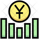 Yuan Graph Earning Graph Money Icon