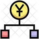 Yuan Hierarchy Structure Connection Icon