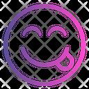 Yummy Emoticon Cute Emoji Icon