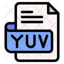 Yuv File Type File Format Icon