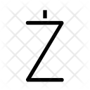 Z Alphabet Sign Icon