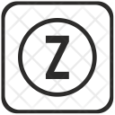Z Letter Function Icon