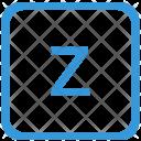 Key Z Lower Icon