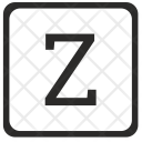 Z Uppercase Letter Icon