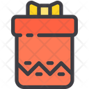 Zig Zag Long Gift Box Icon