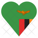 Zambia Flag Country Icon