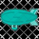 Zappelin Aircraft Airship Icon