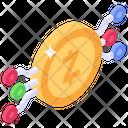 Litecoin Digital Money Zcash Technology Icon
