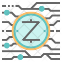 Zcash Cryptocurrency Digital Icon