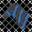 Zebra Face Wild Icon