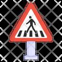 Zebra Crossing Pedestrian Crossing Crosswalk Icon
