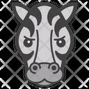 Zebra Face Icon