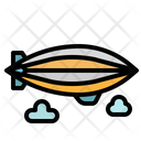 Zeppelin Aircraft Hydrogen Icon