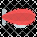 Zeppelin Air Ship Balloon Icon