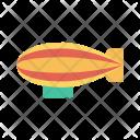 Zeppelin Spaceship Travel Icon