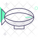 Zeppelin Airship Fly Icon