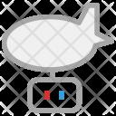 Zeppelin Steampunk Rigid Icon