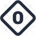 Number Diamond Icon