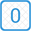 Zero Number Label Icon