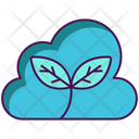 Zero Emission Ecofriendly Cloud Icon