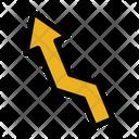 Zic Zac Arrow Left Arrow Icon