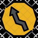 Zic Zac Sign Arrow Up Icon