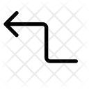 Zigzag Zig Arrow Icon