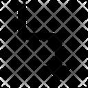 Zigzag Turn Curve Icon