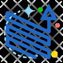 Zigzag Up Ups Icon