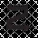 Arrow Zigzag Right Icon