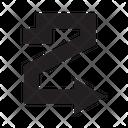 Zigzag Right Next Icon