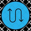 Zigzag Direction Sign Icon