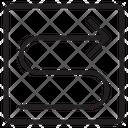 Zigzag Turn Route Icon