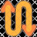 Zigzag Zigzag Arrow Signaling Icon