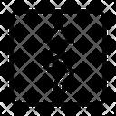 Zigzag Board Banner Icon