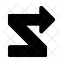 Zigzag Arrow Icon