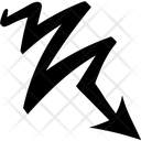 Zigzag Arrow Sign Icon