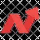 Zigzag Arrow Arrow Upward Arrow Icon