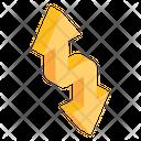 Zigzag Arrows Direction Icon