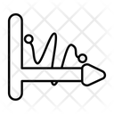 Zigzag Chart Zigzag Graph Data Analytics Icon