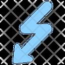 Curvy Arrow Zigzag Down Arrow Arrow Icon
