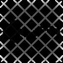 Zigzag Left Arrow Direction Icon
