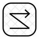 Zigzag right Icon