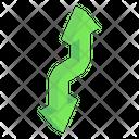Zigzag Road Arrows Icon