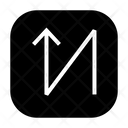 Zigzag Arrow Direction Icon