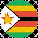 Zimbabwe Flag Country Icon