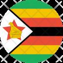 Zimbabwe Flag World Icon