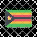 Zimbabwe Zw Flag Country Icon