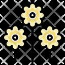 Zinnia Blossom Botanical Icon