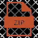 Zip Zip File Data Compression Icon